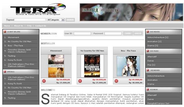 TeraDisc Online Store